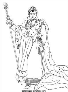 Coloriages de Napoléon 1er - Napoleon Bonaparte coloring