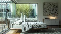 LETTO ARAGONA ZANETTE.  Aragona è un letto che unisce qualità estetica e perfezione tecnica. Un concept informale e sofisticato dove le superfici curve diventano il tratto distintivo, oltre a essere estremamente comode e accoglienti grazie al rivestimento imbottito. Dormitory, Aragona, Outdoor Furniture, Outdoor Decor, Malta, Sweet Dreams, Guest Room, Boudoir, Master Bedroom