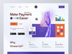 Finance web Landing by Mahady Hasan Rony for Component on Dribbble