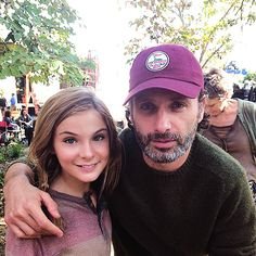 """""""TBT to last day of filming TWD. Both Andrew & Norman came to set just to support us. They're the best!"""" Brighton Sharbino"""