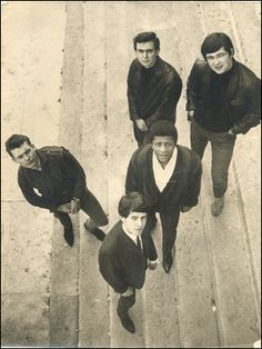 5 Man Cargo on the steps of Leeds University's Parkinson Building Leeds University, My Cousin, 1960s, Musicals, History, Couple Photos, Building, Pictures, Image