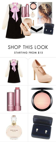 """""""Untitled #22"""" by bebebelabee on Polyvore featuring Gucci, MAC Cosmetics, River Island, Tiffany & Co. and Boohoo"""