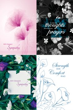 A sample of four designs from our Sympathy collection
