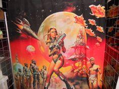 Sample Shower Curtain Barbarella Queen of The Galaxy Jane Fonda Sci Fi | eBay