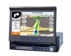 7 Inch Autoradio with DVD 800 x 480 - GPS Bluetooth iPod TV USB