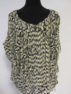 #Fringe #Beads #Sleeveless #Top #Large #Anthropologie #Tunic #Fashion #Apparel #Shopping #eBay