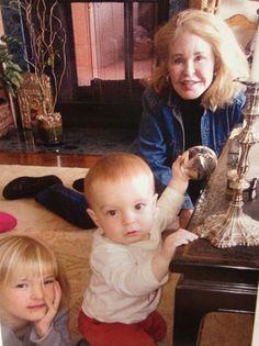 Joan Kennedy with grandchildren Harper and Owen, children of Patrick Kennedy