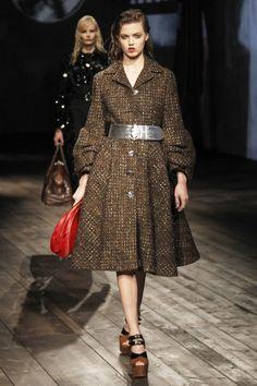 Prada Milan Fashion Week Fall 2013 - AHHHHH!  It looks like my Prada coat from A/W 2000.  Love it.