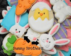 Peeking Bunny Cookies