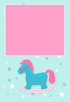 """Una niña"" printable invitation. Customize, add text and photos. print for free!"