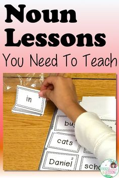 These Noun Lesson Ideas will make teaching your students a breeze. I give you step by step suggestions and guide you through the lessons you need to teach in first and second grades! Click through to read the bog post. Teaching Nouns, Teaching Language Arts, Teaching Writing, Teaching Resources, Teaching Ideas, Nouns First Grade, Grade 1, Second Grade, Writing Comprehension