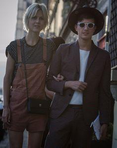 Linda Tol&Alessandro Enriquez before the first Moshino menswear fashion show....Villa Corsini,Firenze