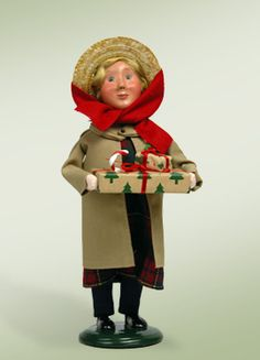 """""""Girl with Duster"""" a product from the Holiday Carolers."""