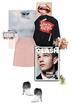 """""""a little moody but still cute."""" by iheartfashion97 ❤ liked on Polyvore featuring Chicnova Fashion, New Look, Stuart Weitzman, MAC Cosmetics, Edie Parker and Gucci"""