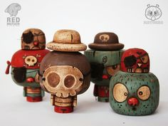 """Piratuchas"" by matucha Toy Art, Making Wooden Toys, Bird Toys, Vinyl Toys, Wooden Dolls, Designer Toys, Paper Toys, Toy Boxes, Toy Store"