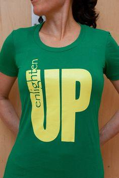 ON SALE!!  Kelly Green Enlighten Up Women's Tee by American Apparel on Etsy, $9.00