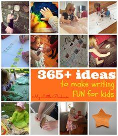 Writing activities: Ideas to make writing fun for kids. Kids Learning Activities, Kindergarten Activities, Writing Activities, Educational Activities, Classroom Activities, Literacy Games, Preschool Writing, Teaching Writing, Kids Writing