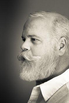 beard.  I love how sculptural this guy's facial hair is.