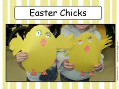 Cute little Easter chicks using handprints for the wings.  http://aspecialkindofclass.blogspot.ca/2012/04/easter-chicks.html