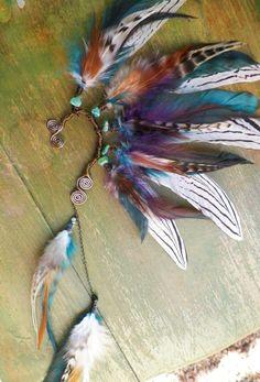shadow dancer tribal feather ear cuff by SpiritTribe on Etsy, $60.00