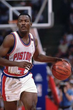 Today in Black History, - Drafted in Joe Dumars played his entire NBA career with the Detroit Pistons. For more info, check out today's notes! Basketball Court Layout, Basketball Moves, Basketball Pictures, Basketball Legends, Love And Basketball, Basketball Players, Basketball Hoop, Soccer, Ohio State Basketball