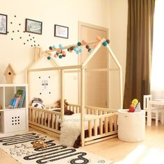 House bed, Toddler bed, Play house, Tent bed Bunk bed Wooden playhouse Montessori bed Toddler floor bed Wood nursery Teepee bed Kids bedroom – Home accessories Wood Nursery, Nursery Crib, Playhouse Bed, Wooden Playhouse, Toddler Floor Bed, Toddler Rooms, Twin Size Toddler Bed, Diy Toddler Bed, Kids Bed Frames