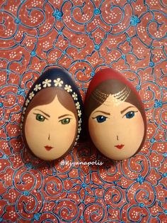 Nowruz / Norooz Eggs for the haft sin - Persian New Year table spread