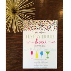 Happy Hour Shower Invitation 5x7 Design By SimplyStatedKP On Etsy 175
