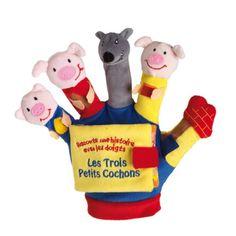 Livre gant les trois petits cochons. 17€