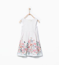 ZARA - KIDS - Box pleat printed dress