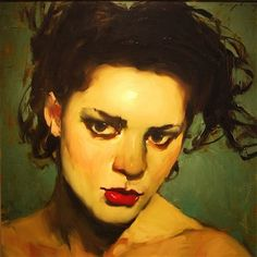 """Temptress"" oil painting by Malcolm T. Liepke"