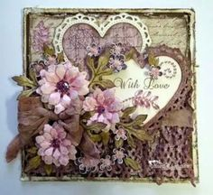Get inspired in the Heartfelt Creations Project Gallery. Free scrapbook layouts, altered art projects and more with instructions. Shabby Chic Karten, Shabby Chic Cards, Valentine Love Cards, Heartfelt Creations Cards, Beautiful Handmade Cards, Flower Cards, Greeting Cards Handmade, Vintage Cards, Homemade Cards