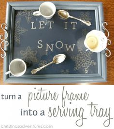 30 Repurposed Vintage Picture Frames-Turn a picture frame into a serving tray.