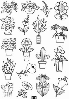 Trendy Plants Doodle Coloring Pages Doodle Coloring, Colouring Pages, Coloring Books, Doodle Drawings, Easy Drawings, Doodle Art, Doodle Lettering, Hand Lettering, Embroidery Patterns
