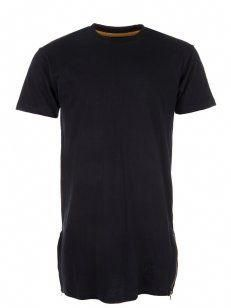4b6834e09ff8 Other Clothing - Elongated Gold Zip T-Shirt Black. Designer menswear  available at Intro