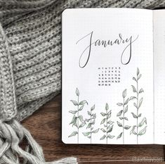 Some January Bujo Spreads for inspiration to start the fresh year on your bullet journal!
