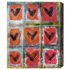 Oliver Gal Artist Co 'LoveRED' Canvas Art by Tiago Magro