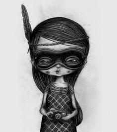Black + white illustrations by Jonas Lofgren