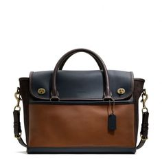 The Legacy Utility Flap Commuter In Colorblock Leather from Coach I really want! $689