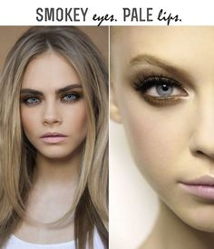 If you're going to do a smokey eye, do a pale lip, & vice versa.  Your face needs a focal point.