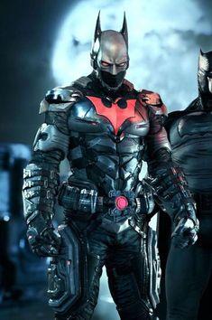 """The """"Batman: Beyond"""" skin for """"Batman: Arkham Knight"""". Batman Vs Superman, Batman Art, Batman Robin, Spiderman, Batman Arkham Knight Characters, Batman 2017, Heros Comics, Dc Heroes, Marvel Dc Comics"""