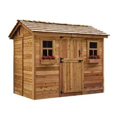 Outdoor Living Today Cabana 6 ft. x 9 ft. Western Red Cedar Garden Shed-CB96 - The Home Depot