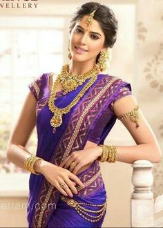 Nice saree nd beautiful jewellery....
