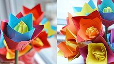 Origami tulip flower craft - Make stunning paper flowers - Craftionary . Vegetable Garden Tips, Starting A Vegetable Garden, Nylon Flowers, Tulips Flowers, Rock Crafts, Crafts To Make, Construction Paper Crafts, How To Make Paper Flowers, How To Make Origami