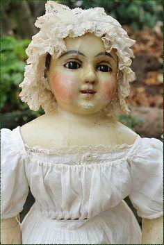 antike Tauchwachs-Puppe, um 1840-1860, Sammlung: Lommel