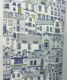 Jessica Hogarth illustration http://www.jessicahogarth.com/ http://www.yourindies.com/indieshop.asp?IndieID=155 #houses #art