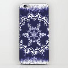 #iPhone #iPod #mobile #phone #case #cover #skin #snowflake #snow #blue #mandala #mandalas #Christmas #zen #meditation #spiritual #spirituality