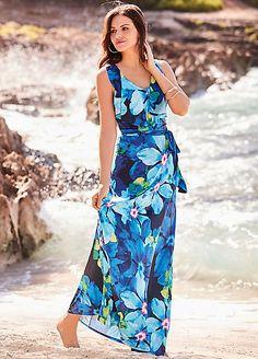 9422a97f49 Frill Top Maxi Dress With Belt. Kaleidoscope