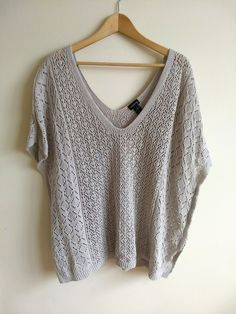 65645d3d61d TORRID Womens Plus Size 2X Crochet Pullover Sweater Top V-neck Beige Warm  Poncho