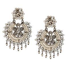 JJ Caprices - Elegant Sterling Silver Mexican Filigree Earrings